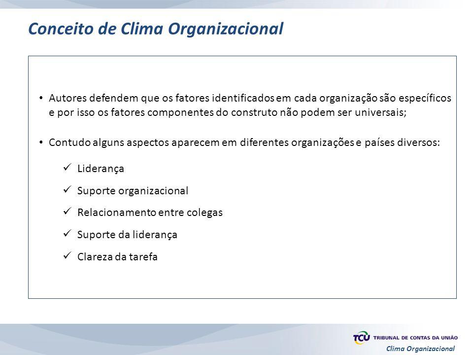 Conceito de Clima Organizacional
