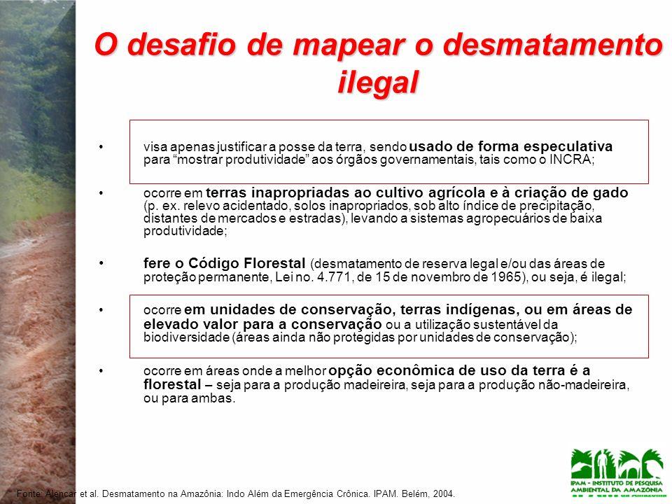 O desafio de mapear o desmatamento ilegal