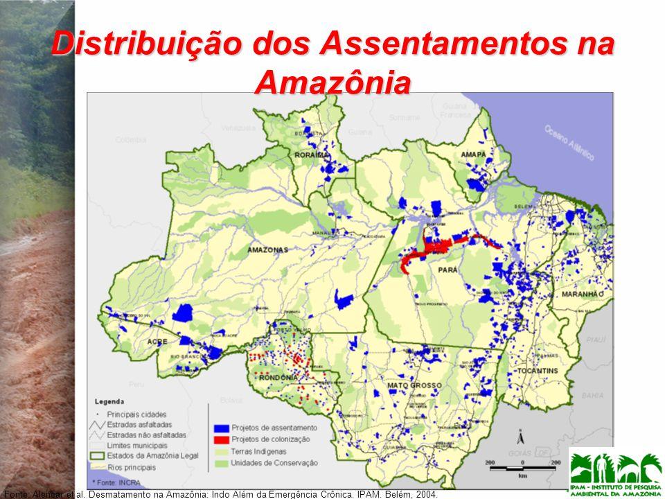 Distribuição dos Assentamentos na Amazônia