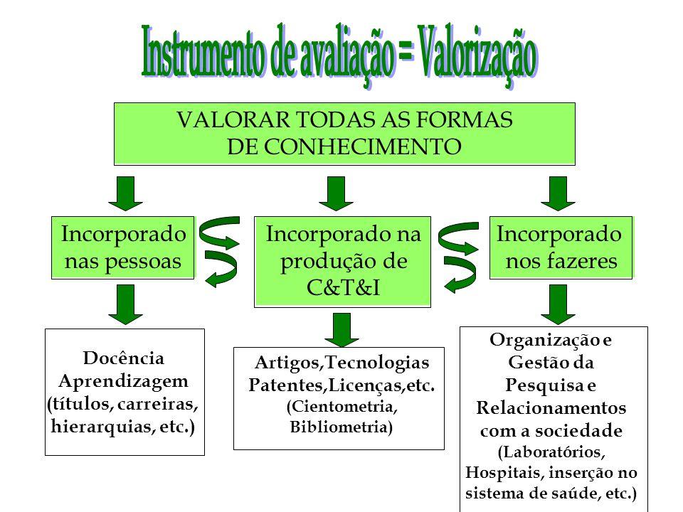 Instrumento de avaliação = Valorização