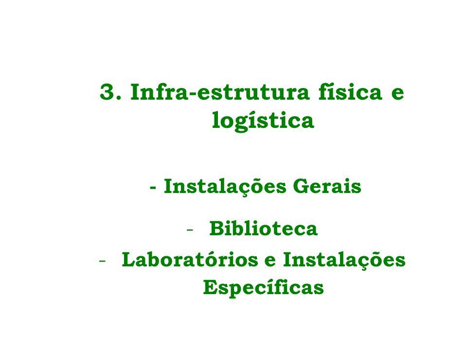 3. Infra-estrutura física e logística