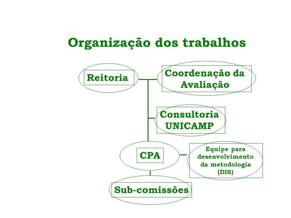Organização dos trabalhos