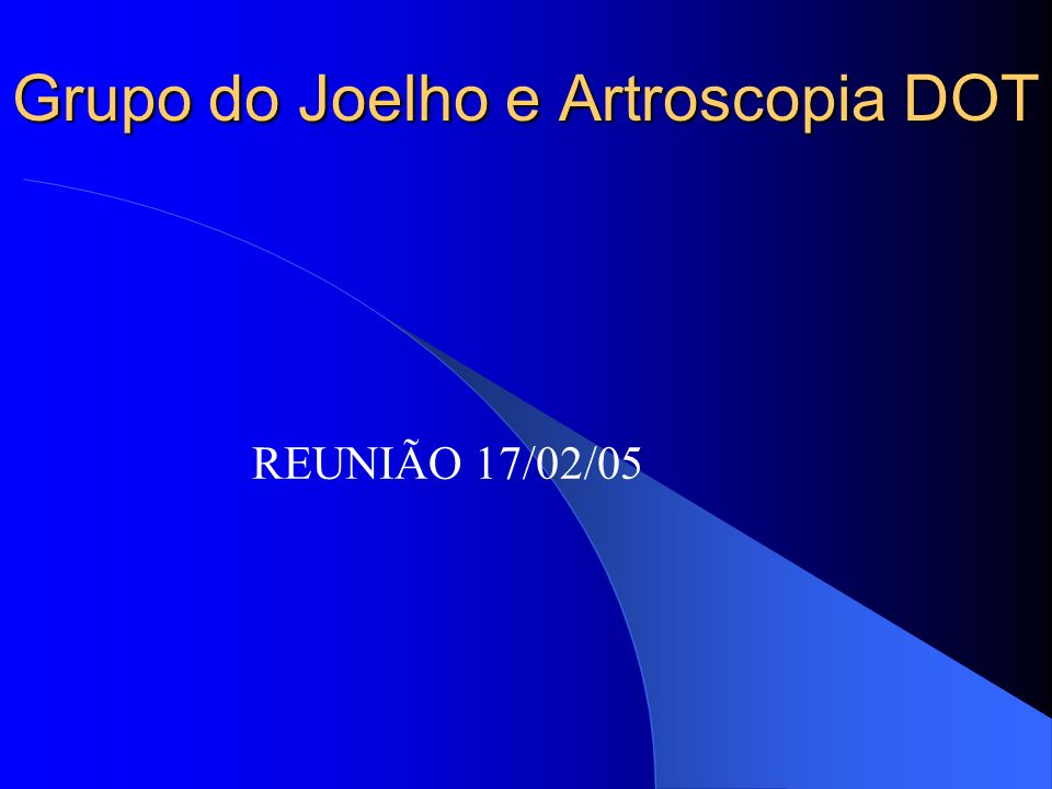 Grupo do Joelho e Artroscopia DOT