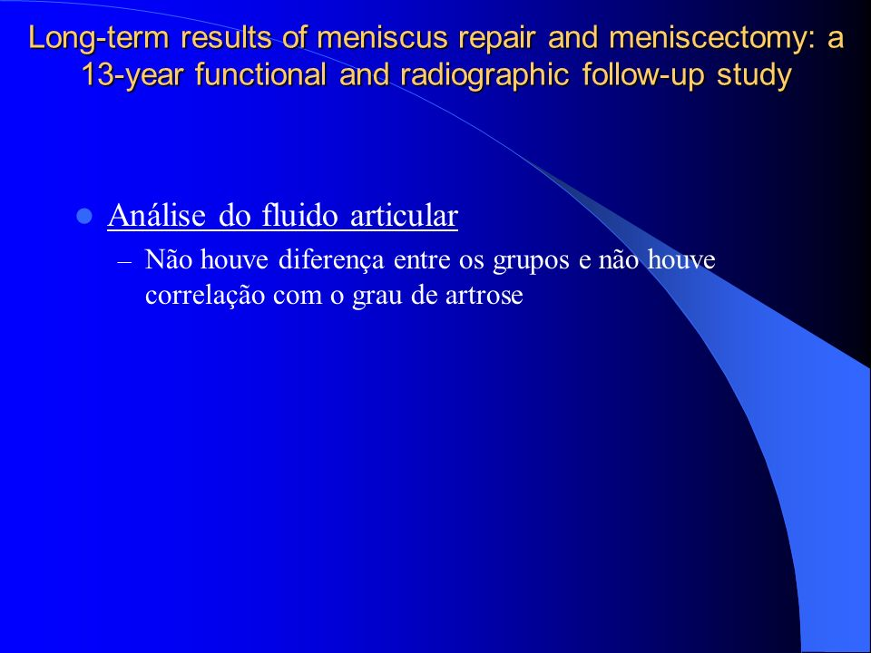 Análise do fluido articular