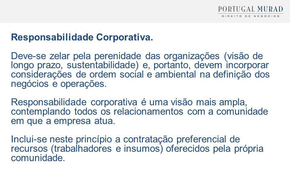 Responsabilidade Corporativa.
