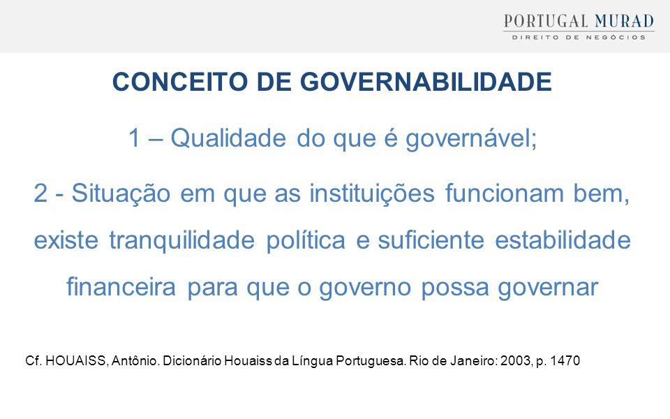 CONCEITO DE GOVERNABILIDADE