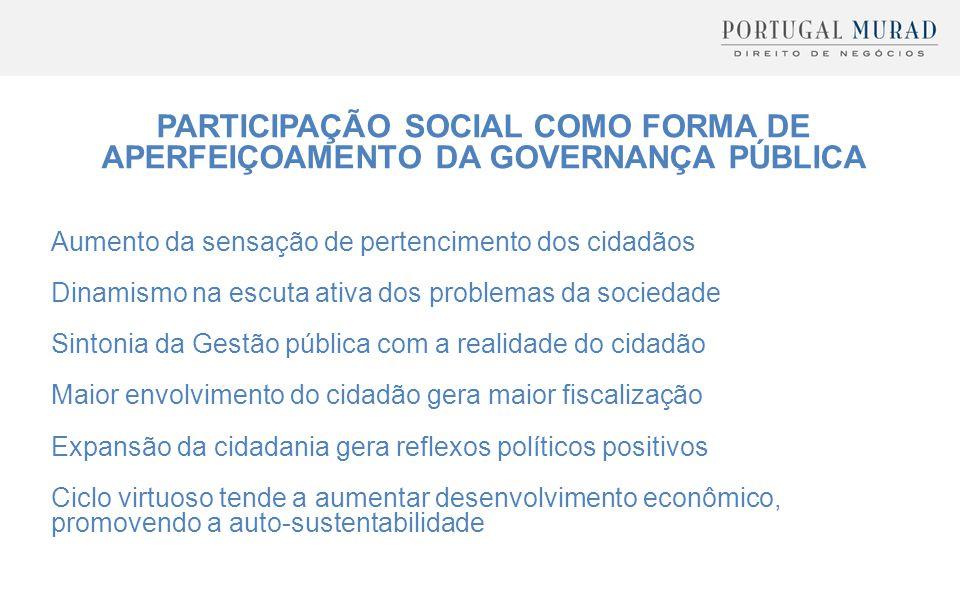 PARTICIPAÇÃO SOCIAL COMO FORMA DE APERFEIÇOAMENTO DA GOVERNANÇA PÚBLICA