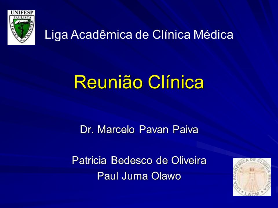 Dr. Marcelo Pavan Paiva Patricia Bedesco de Oliveira Paul Juma Olawo