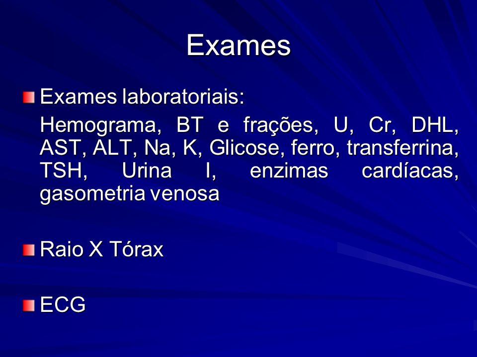 Exames Exames laboratoriais: