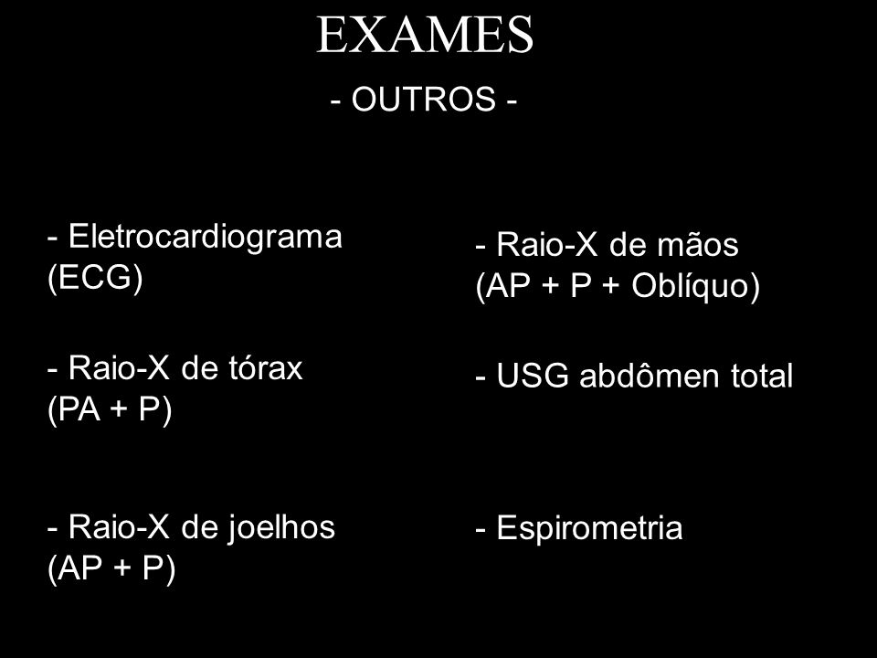 EXAMES - OUTROS - - Eletrocardiograma (ECG)