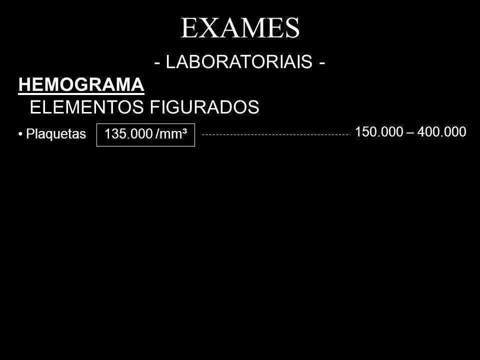 EXAMES - LABORATORIAIS - HEMOGRAMA ELEMENTOS FIGURADOS