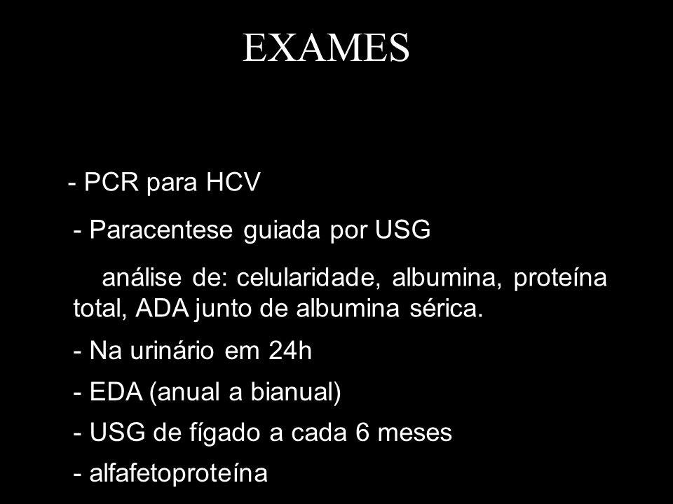 EXAMES - PCR para HCV - Paracentese guiada por USG