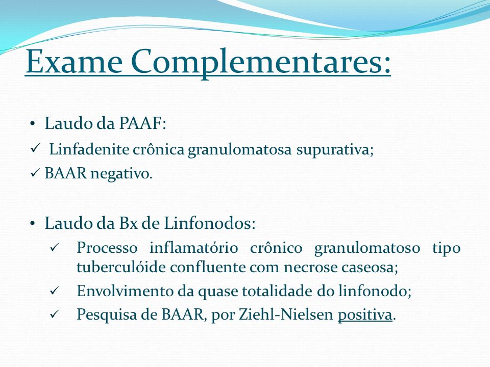 Exame Complementares: