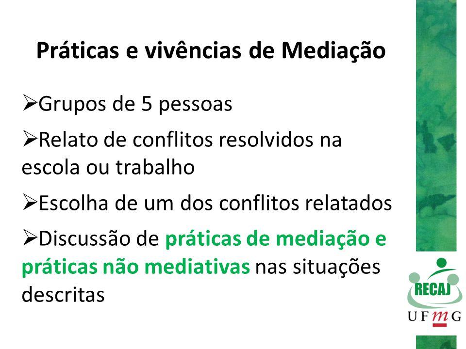 Práticas e vivências de Mediação
