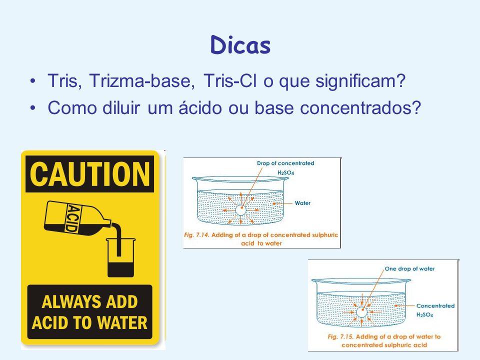 Dicas Tris, Trizma-base, Tris-Cl o que significam