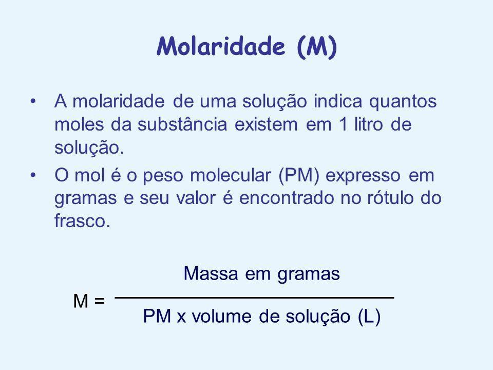 PM x volume de solução (L)