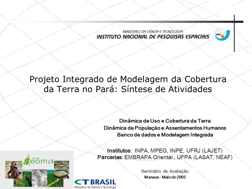 Projeto Integrado de Modelagem da Cobertura da Terra no Pará: Síntese de Atividades