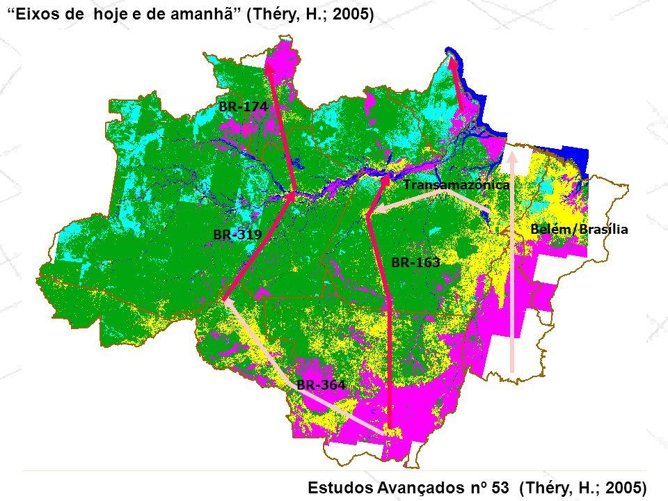 Eixos de hoje e de amanhã (Théry, H.; 2005)
