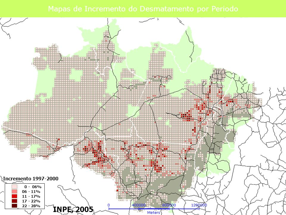 Mapas de Incremento do Desmatamento por Periodo