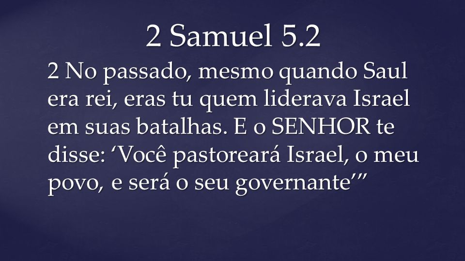 2 Samuel 5.2