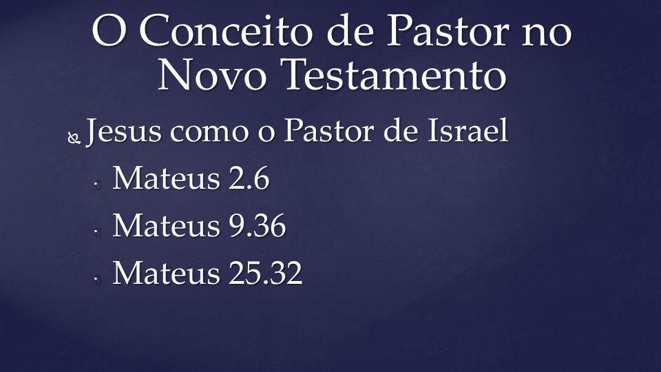 O Conceito de Pastor no Novo Testamento