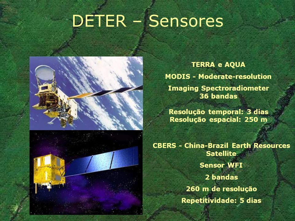 DETER – Sensores TERRA e AQUA MODIS - Moderate-resolution