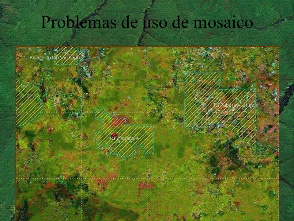 Problemas de uso de mosaico