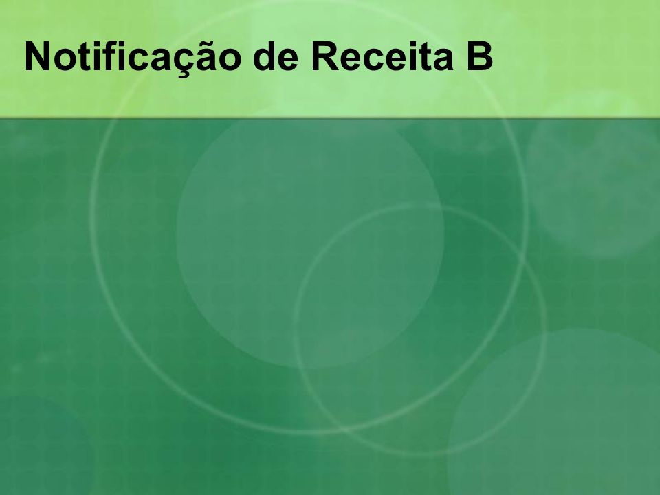 Notificação de Receita B