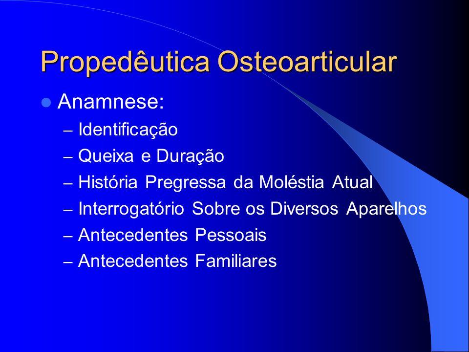 Propedêutica Osteoarticular