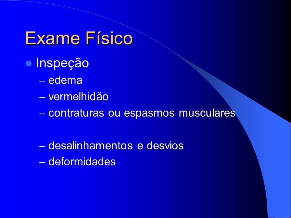 Exame Físico Inspeção edema vermelhidão