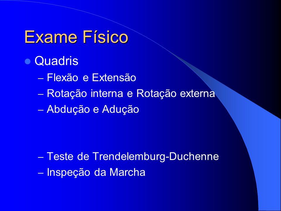 Exame Físico Quadris Flexão e Extensão