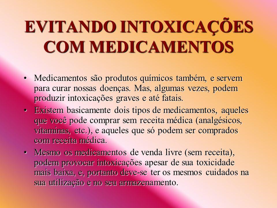 EVITANDO INTOXICAÇÕES COM MEDICAMENTOS