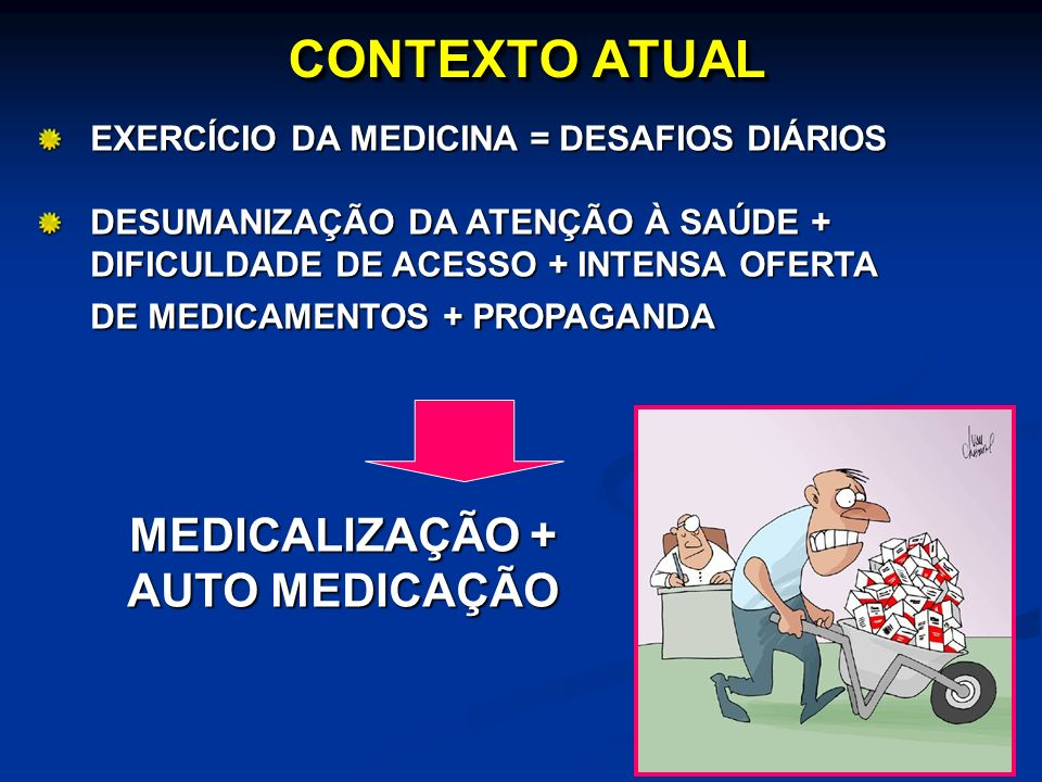 CONTEXTO ATUAL MEDICALIZAÇÃO + AUTO MEDICAÇÃO
