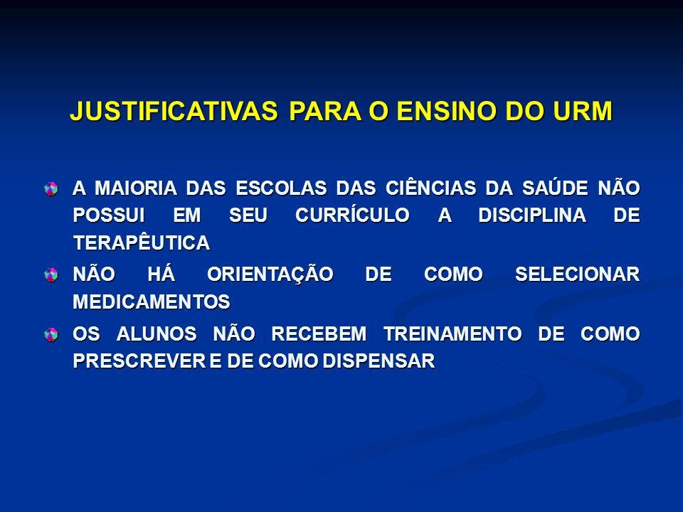 JUSTIFICATIVAS PARA O ENSINO DO URM
