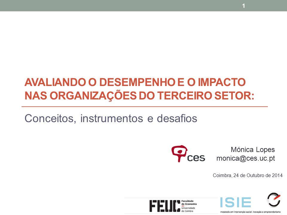 Avaliando o desempenho e o impacto nas organizações do terceiro setor:
