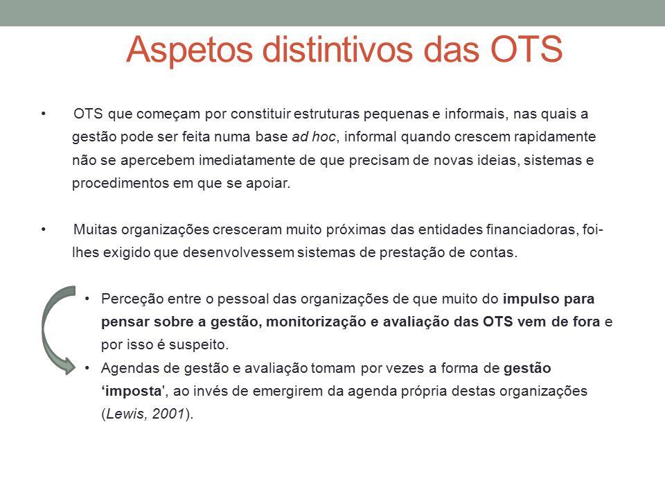 Aspetos distintivos das OTS