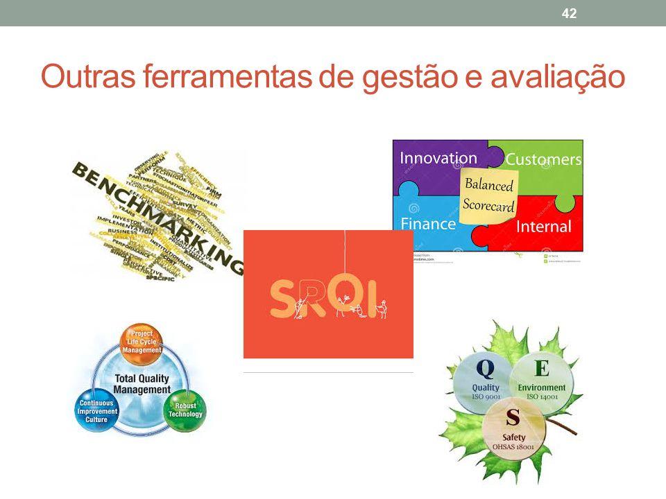 Outras ferramentas de gestão e avaliação
