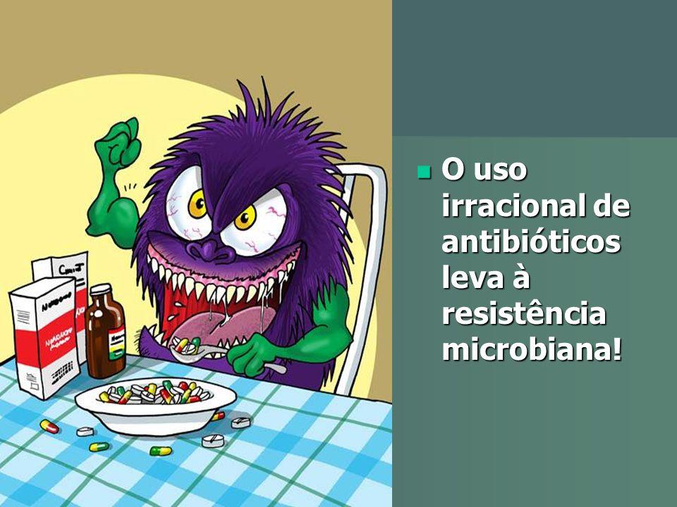 O uso irracional de antibióticos leva à resistência microbiana!