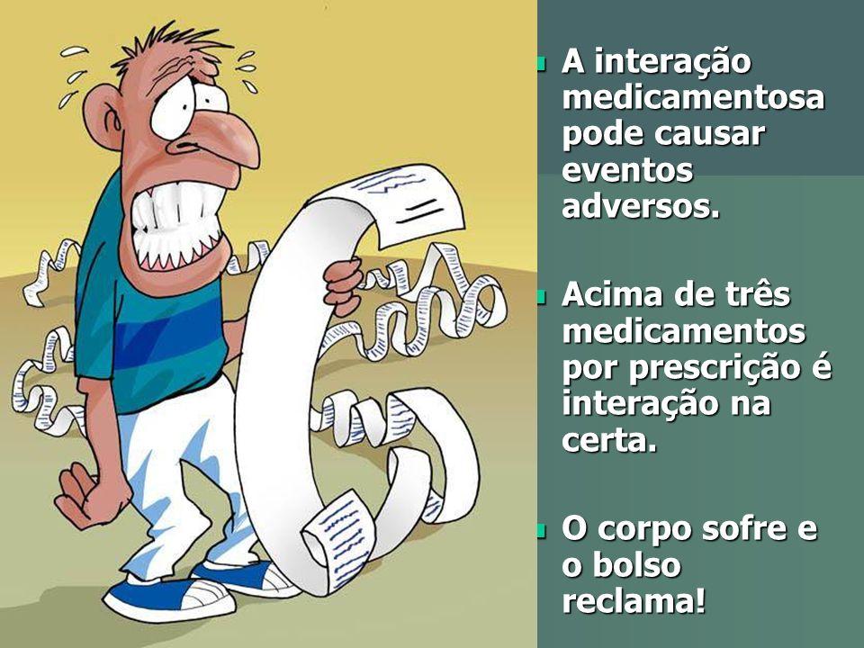 A interação medicamentosa pode causar eventos adversos.