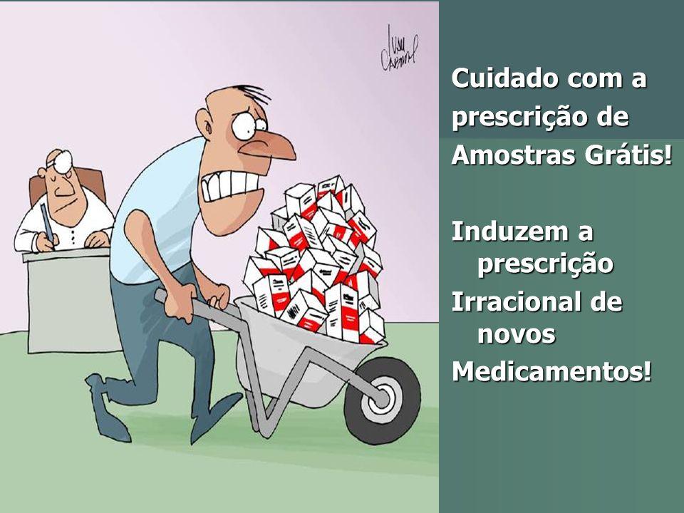 Cuidado com a prescrição de Amostras Grátis! Induzem a prescrição Irracional de novos Medicamentos!