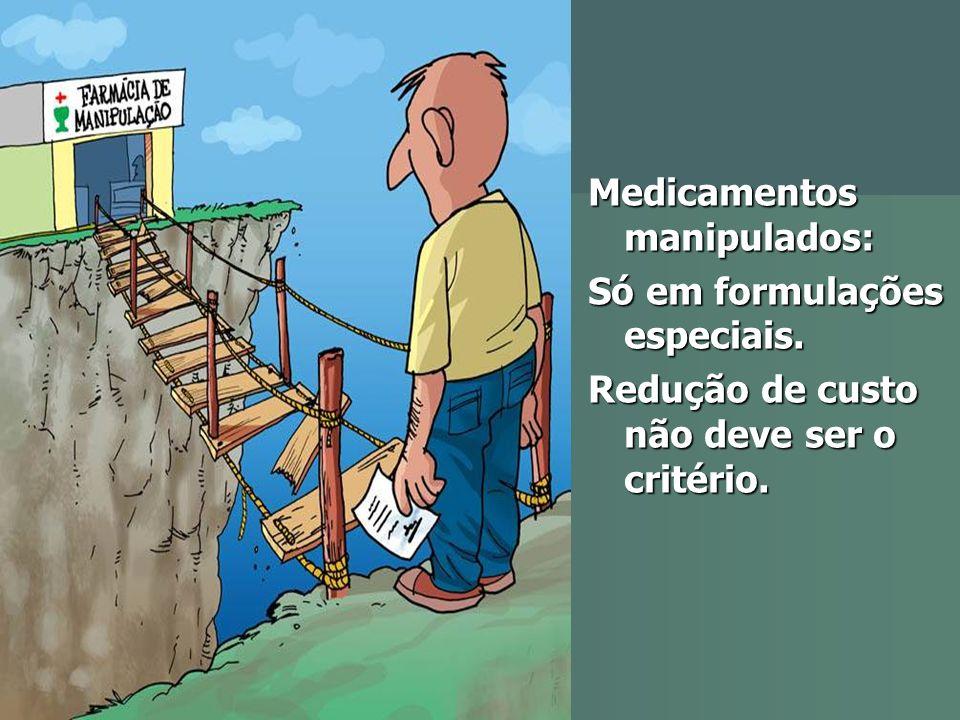 Medicamentos manipulados: