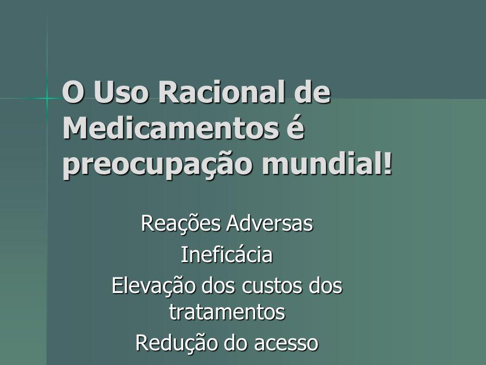 O Uso Racional de Medicamentos é preocupação mundial!