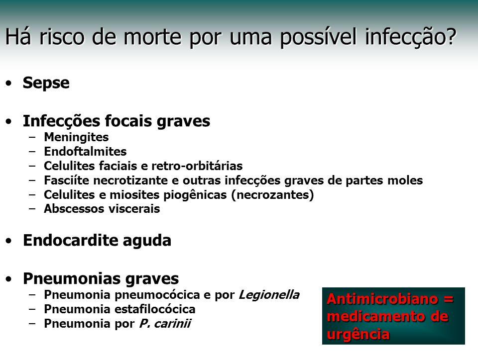 Há risco de morte por uma possível infecção