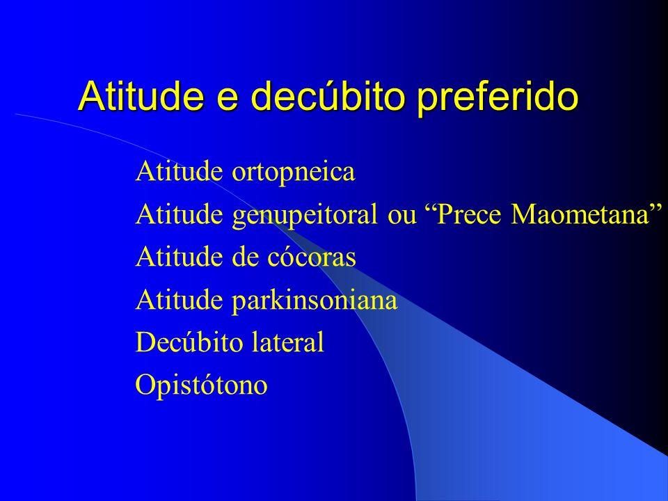 Atitude e decúbito preferido