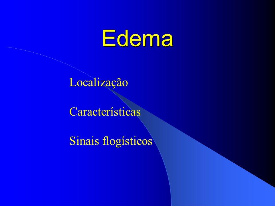 Localização Características Sinais flogísticos