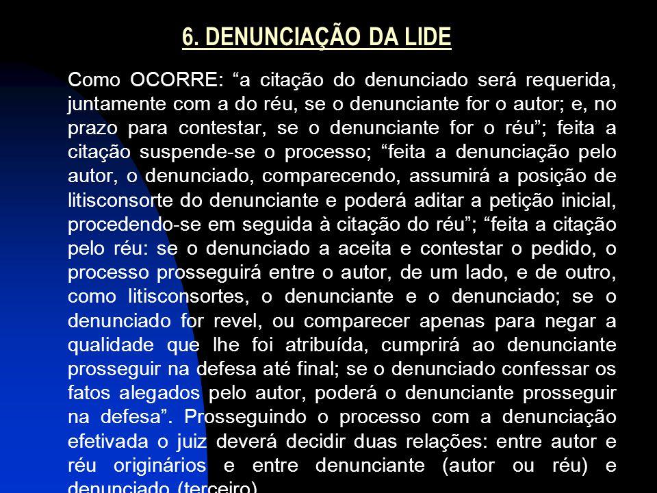 6. DENUNCIAÇÃO DA LIDE