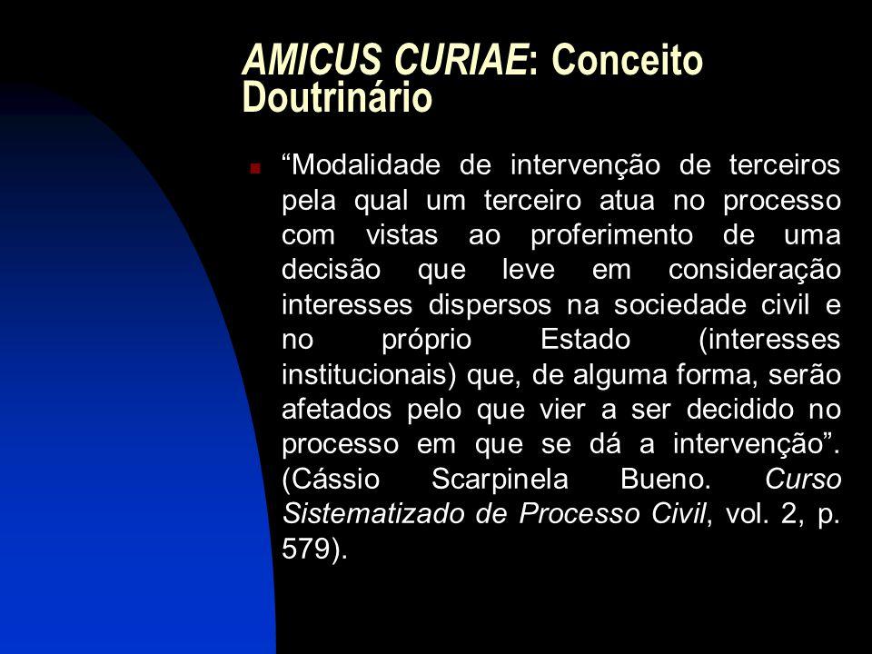 AMICUS CURIAE: Conceito Doutrinário