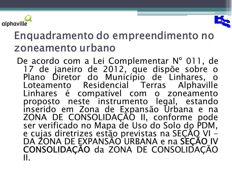 Enquadramento do empreendimento no zoneamento urbano