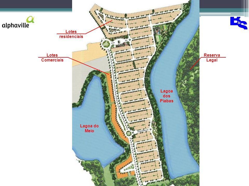 Lotes residenciais Lotes Comerciais Reserva Legal Lagoa dos Piabas Lagoa do Meio