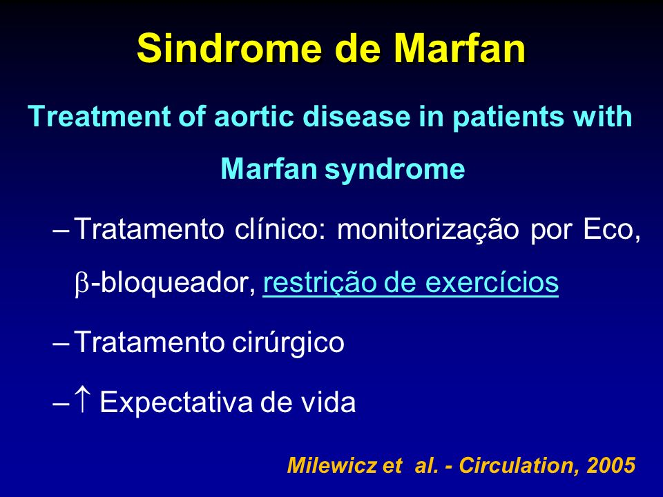 Treatment of aortic disease in patients with Marfan syndrome